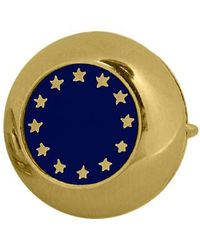 FORZIERI | Metallic Gold Plated European Flag Button Covers for Men | Lyst