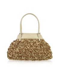 FORZIERI | Metallic Capaf Line Woven Straw & Leather Satchel Bag | Lyst