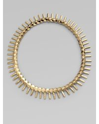 Giles & Brother - Metallic Structured Fringe Necklace - Lyst