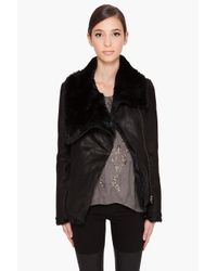 Helmut Lang | Flux Fur Spanish Rabbit Reversible Jacket in Black | Lyst