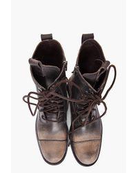 John Varvatos | Brown Combat Boots for Men | Lyst