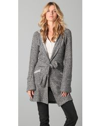 Nightcap | Gray Herringbone Hoodie Coat | Lyst