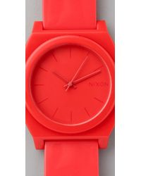 Nixon - Red Time Teller P Watch - Lyst