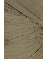 Donna Karan - Green Draped Stretch-jersey Dress - Lyst
