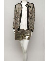 Lanvin - Golden Metallic Shorts - Lyst
