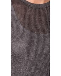 Vince - Gray Ribbed Metallic Sweater - Lyst
