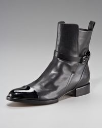 Alexander Wang | Black Kat Cap-toe Ankle Boot | Lyst
