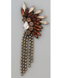 DANNIJO   Metallic Oksana Earrings   Lyst