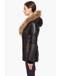 Mackage - Black Ingrid Glam Puffy Leather Jacket - Lyst