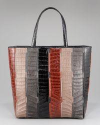 Nancy Gonzalez | Multicolor Striped Crocodile Tote | Lyst
