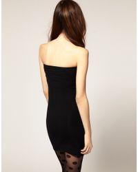 American Apparel - Black Mini Tube Dress - Lyst