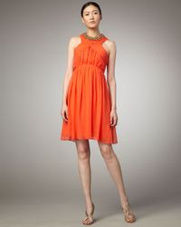 Robert Rodriguez | Orange Alexandra Short Dress, Crush | Lyst