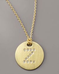 Roberto Coin - Metallic Letter Medallion Necklace, Z - Lyst