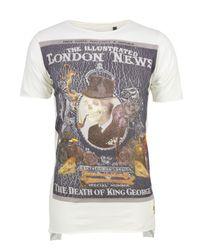 Bolongaro Trevor | White The Death Of King George Bone T-shirt for Men | Lyst