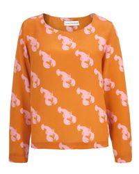 Charlotte Taylor | Orange Bl-01 Lobster Print Blouse | Lyst