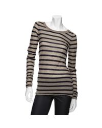 Enza Costa | Brown Exclusive Stripe Cashmere Sweater | Lyst