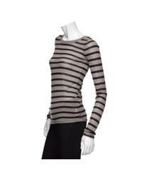 Enza Costa | Brown Exclusive Stripe Cashmere Sweater | Lyst