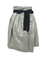 Farhi by Nicole Farhi | Black Metallic D3ac5 Light Flint Skirt | Lyst