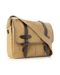 French Connection | Black Bristol Canvas Messenger Bag for Men | Lyst