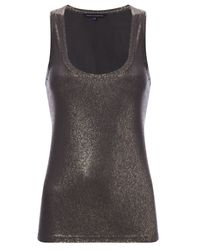 French Connection | Metallic Goldie Vest | Lyst