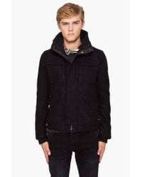 G-Star RAW - Black Field Wool Jacket for Men - Lyst