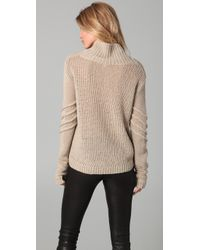 Helmut Lang - Natural Cowl Neck Sweater - Lyst