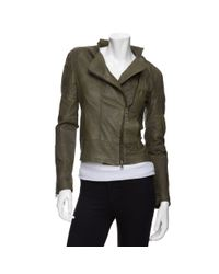 Improvd | Green Leather Jacket | Lyst