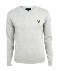 Lyle & Scott | Gray Je788v02 Light Grey Marl Cotton Knit for Men | Lyst
