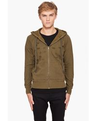 McQ | Green Felpa Hoodie for Men | Lyst