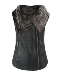 Muubaa | Gray Bronson Black Leather Gilet for Men | Lyst