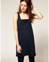 American Apparel - Blue Relaxed Vest - Lyst