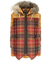 Nigel Cabourn | X Eddie Bauer Canadian Suede & Orange Check Vest for Men | Lyst