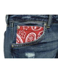 PRPS | Blue F55p03 Handkerchief Shorts | Lyst