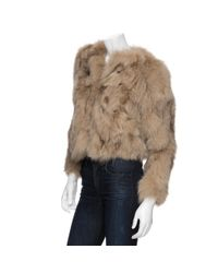 See By Chloé | Brown Fox Fur Jacket | Lyst