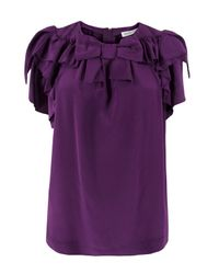 See By Chloé | Purple Silk Shirt | Lyst