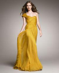 Tadashi Shoji | Metallic One-shoulder Basket-weave Gown | Lyst