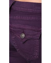 True Religion - Blue Misty Eggplant Legging Jeans - Lyst