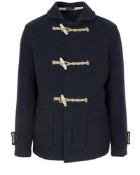 YMC | Blue Navy Wool Gloverall Duffle Coat for Men | Lyst