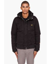G-Star RAW | Black Hooded Field Bomber Jacket for Men | Lyst