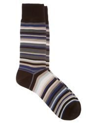Paul Smith - Black Multi Stripe Socks for Men - Lyst