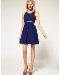 ASOS Collection   Natural Asos Petite Exclusive Strappy Dress in Chiffon   Lyst