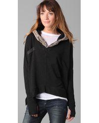 Dolan | Gray Fur Hood Pullover | Lyst