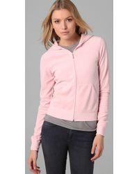 Juicy Couture - Pink Original Zip Hoodie - Lyst