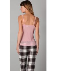 Juicy Couture - Pink Pointelle Button Down Cami - Lyst