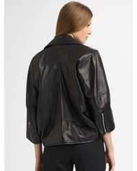 Junya Watanabe - Black Leather Motorcycle Jacket - Lyst
