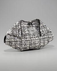 Alexander McQueen | Gray De-manta Tweed Clutch | Lyst
