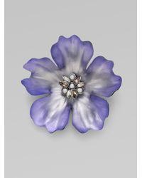 Alexis Bittar - Blue Anemone Pin - Lyst