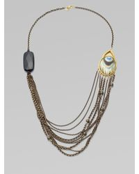Alexis Bittar | Metallic Multichain Peacock Necklace | Lyst