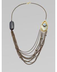 Alexis Bittar | Metallic Multichain Peacock Necklace | Lyst