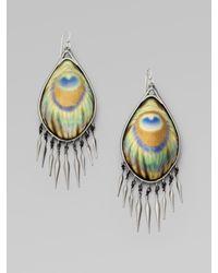 Alexis Bittar | Green Peacock Fringe Earringsgunmetal | Lyst